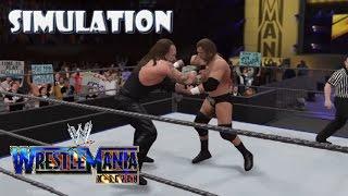 WWE 2K16 SIMULATION: Undertaker vs Triple H | Wrestlemania 17 Highlights