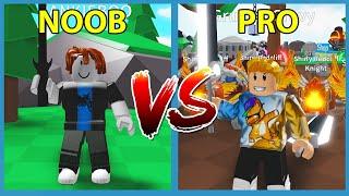 Noob VS Pro in Roblox Saber Simulator
