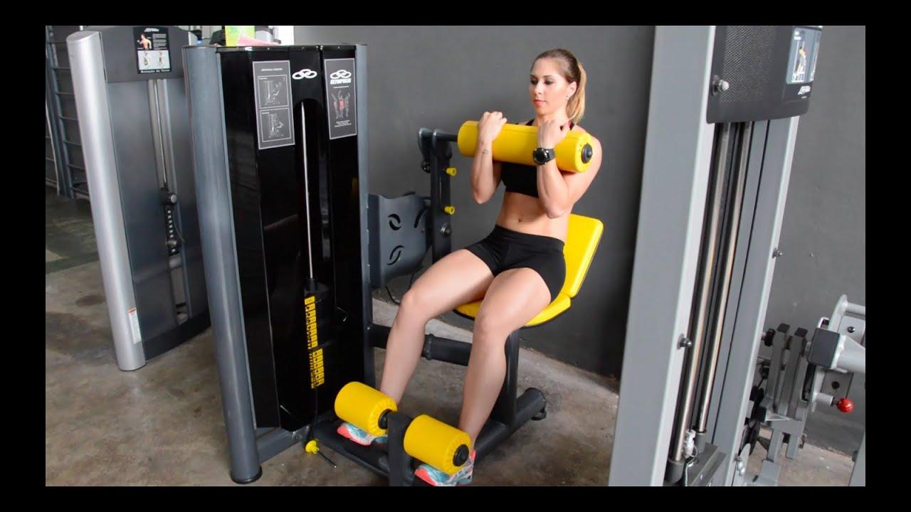 Abdominal crunches maquina 4personal youtube for Maquinas para gym