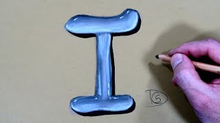 How to Draw a Letter I in Water With Dry Pastel pencils