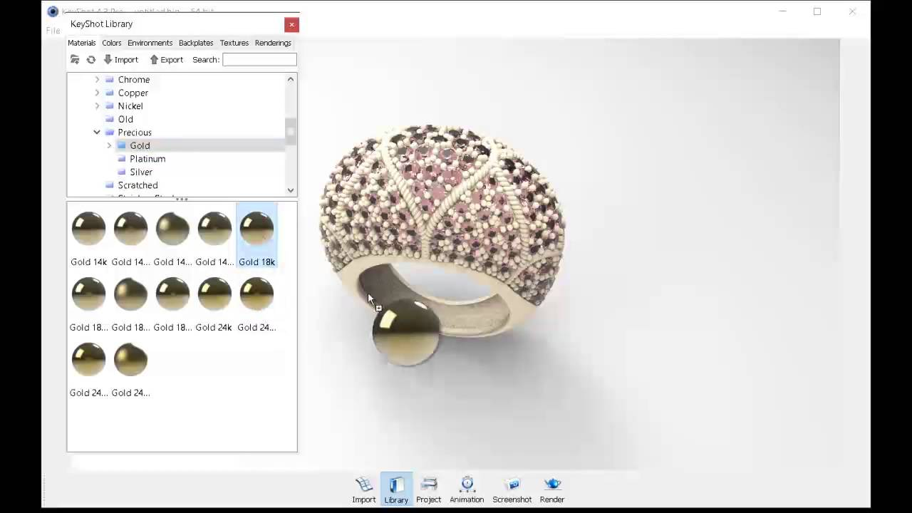 Photorealistic renders for jewlery design in Keyshot - YouTube