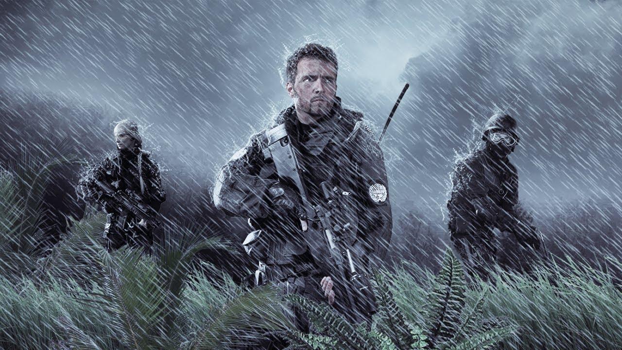 War Soldier Photo Manipulation And Rain Effect Photoshop