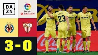 Mit Zaubertor: Gelbes U-Boot versenkt Sevilla | Villarreal - Sevilla 3:0 | La Liga | DAZN Highlights