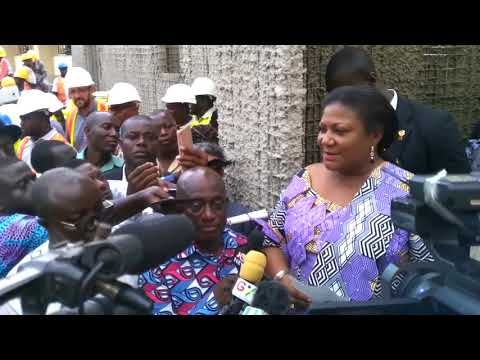 First Lady Visit the new MBU  AT KOMFO ANOKYE HOSPITAL