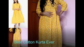 Best Quality kurta Ever|Unboxing Jabong Sangria  Kurta|Best Quality Cotton Kurta under 600 Rs