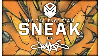 "blackbook graffiti ""SNEAK"" [2 colors] battle vs spiker for CT"