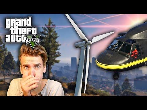 HELICOPTER VS WIND TURBINE w/ OLI WHITE | GTA V