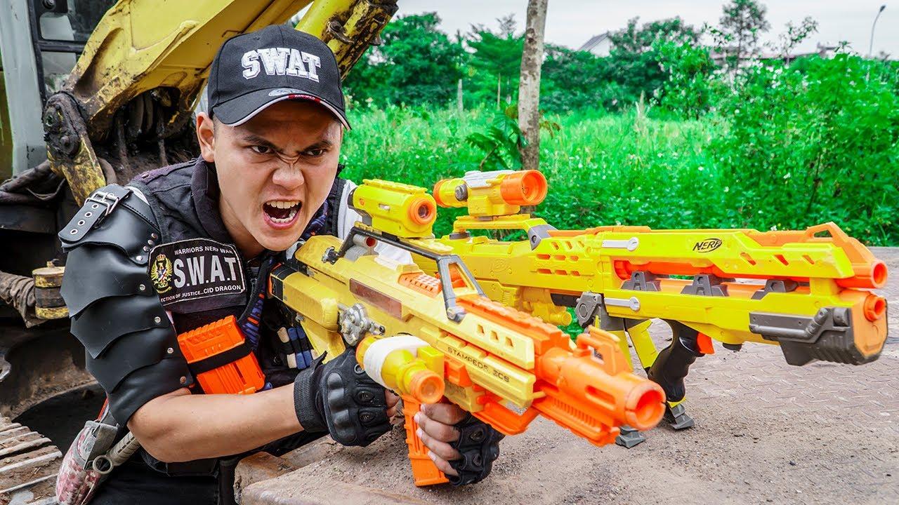 LTT Game Nerf War : The Thieves Battle Warriors SEAL X Nerf Guns Fight Braum Crazy
