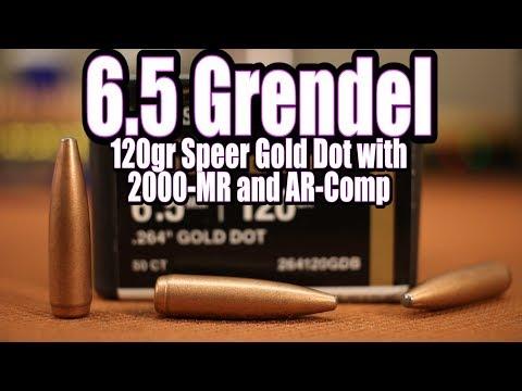 6 5 Grendel - 120gr Speer Gold Dot