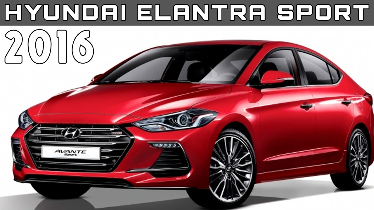 2016 hyundai elantra sport review rendered price specs. Black Bedroom Furniture Sets. Home Design Ideas