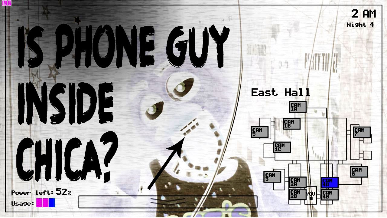 Is phone guy inside chica five nights at freddy s theory youtube