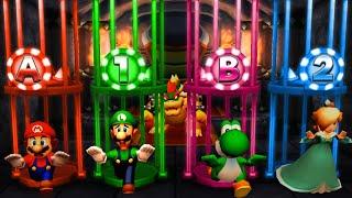 Mario Party The Top 100 MiniGames - Mario Vs Luigi Vs Yoshi Vs Rosalina (Master Cpu)