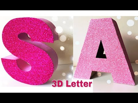How to make 3D letter  home decor  birthday decoration ideas (Mass Crafts)