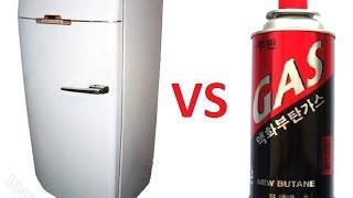 Заправка холодильника бытовым газом (пропан)(New butane., 2016-11-04T09:35:20.000Z)