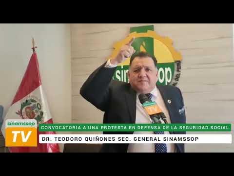 SECRETARIO GENERAL DEL SINAMSSOP CONVOCA AL GRAN PLANTÓN EN DEFENSA DE LA SEGURIDAD SOCIAL