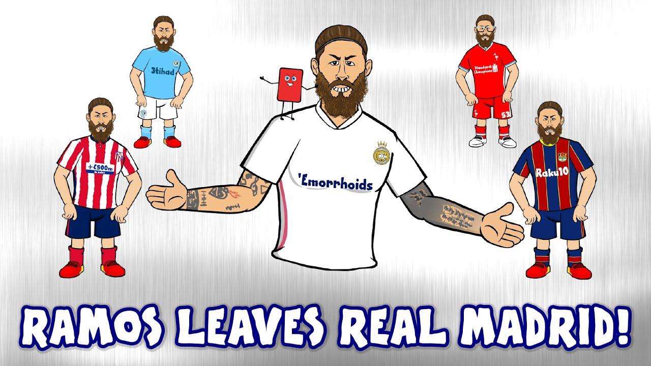 👋Ramos leaves Real Madrid!👋 (PSG? Man Utd? Barca? Man City Transfer Gossip! Press Conference)