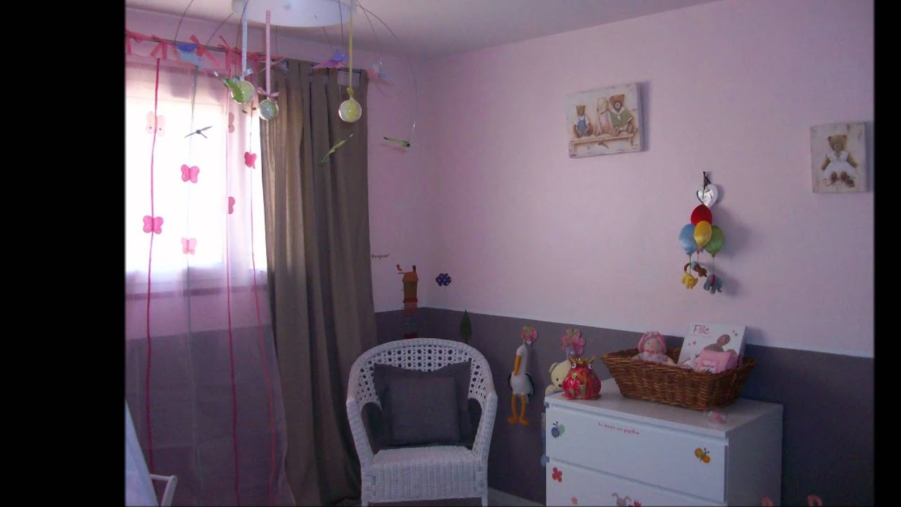 Chambre bebe youtube for Modele de deco chambre