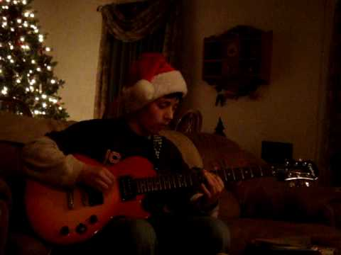 christmas hells bells on electric les paul guitar