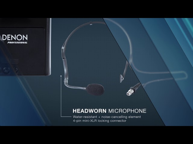 Denon Professional - Fitness Pack Headset Wireless Microphone with Beltpack