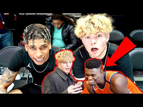 Talking To Zion Williamson & Hooping With NLE Choppa!
