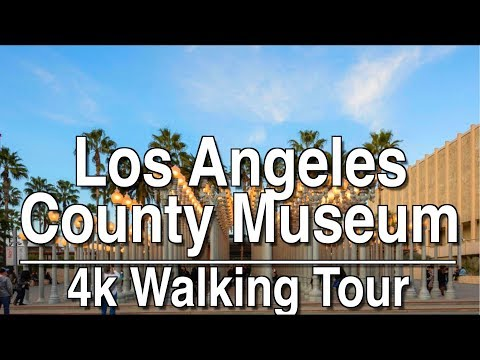 Walking Tour LACMA And La Brea Tar Pits | 4K Dji Osmo Mobile 2 | Ambient Music