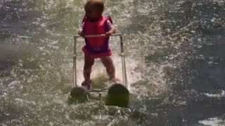 Raw: Baby Sets Water-Skiing Record