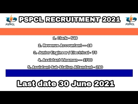PSPCL Recruitment 2021   PSPCL New Vacancy 2021   Govt Jobs   Sarkari Naukari   Various Vacancy