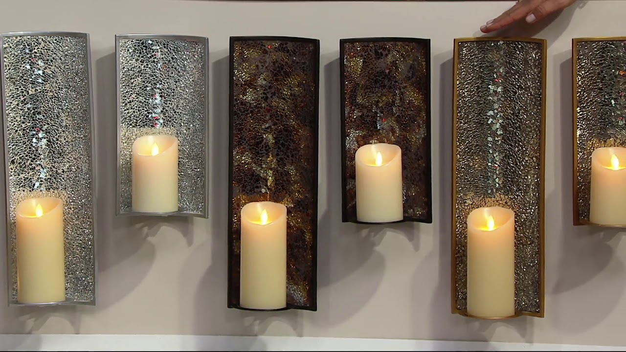 Luminara mosaic wall sconce with flameless pillar candle on qvc luminara mosaic wall sconce with flameless pillar candle on qvc amipublicfo Images