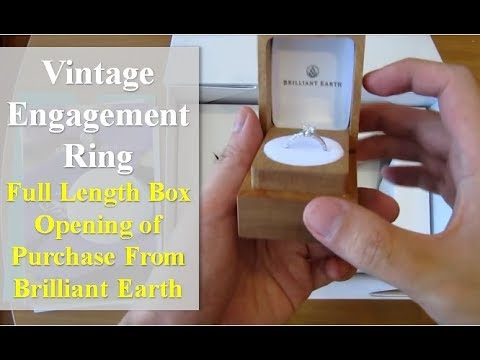 Antique Style Engagement Ring Unboxing