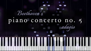Beethoven's Piano Concerto No. 5, 2nd Movement (Piano Solo Tutorial)