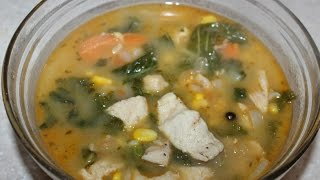 Chicken soup for weight loss - Chicken/Kale/Brown Rice - Home made soup!