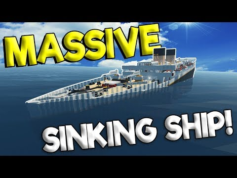 BIGGEST SINKING SHIP SO FAR! - Stormworks: Build and Rescue Gameplay - Sinking Ship Survival