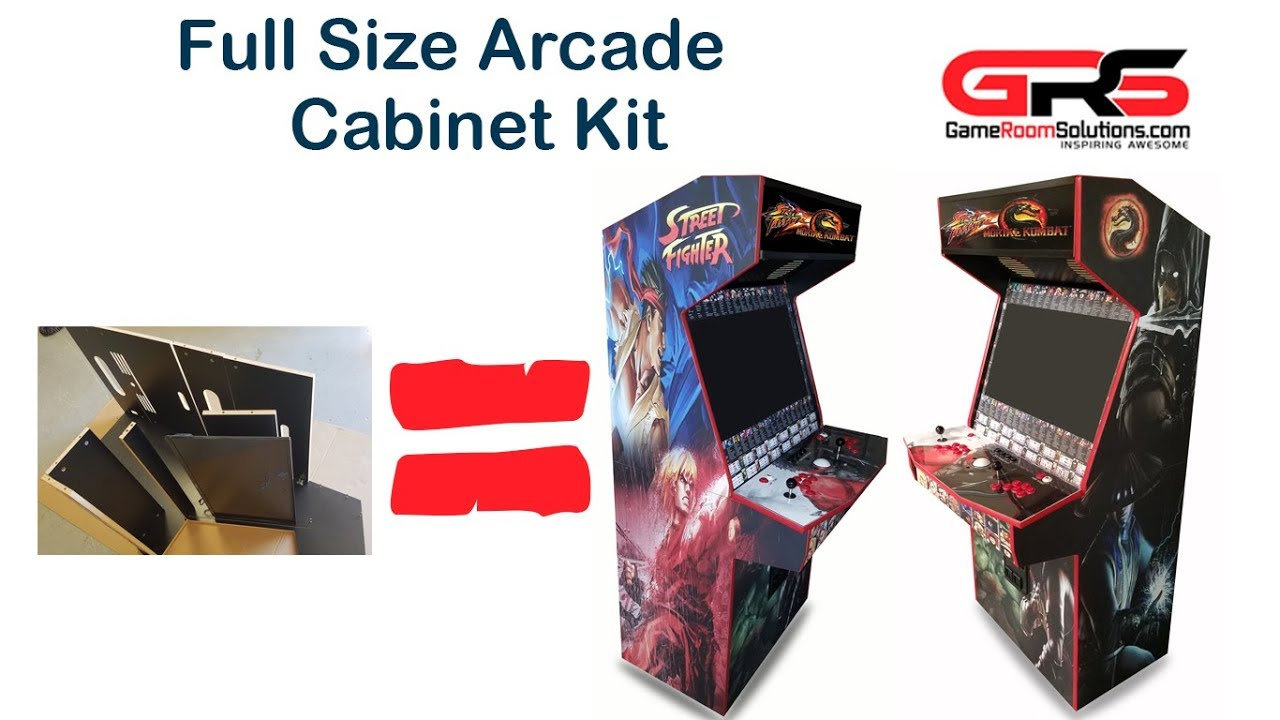 gameroomsolutions com full size arcade cabinet kit for 32 tv youtube. Black Bedroom Furniture Sets. Home Design Ideas