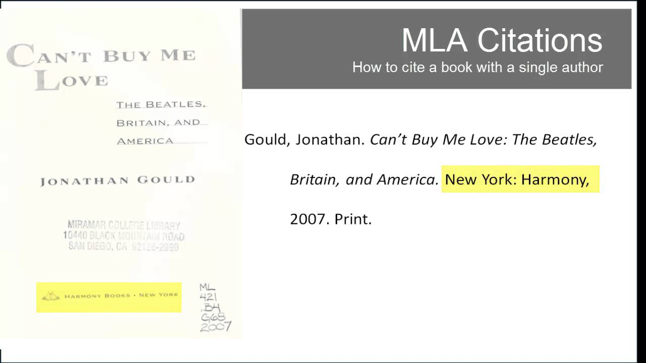 I heart library mla citations book one author youtube i heart library mla citations book one author ccuart Choice Image