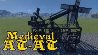 "Cat-apult (walking Catapult) Medieval At-at - Medieval Engineers ""tech"""