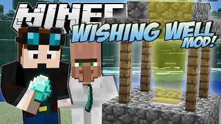 Minecraft | WISHING WELL MOD! (Riches, Lucky Villagers, Blocks & More!) | Mod Showcase