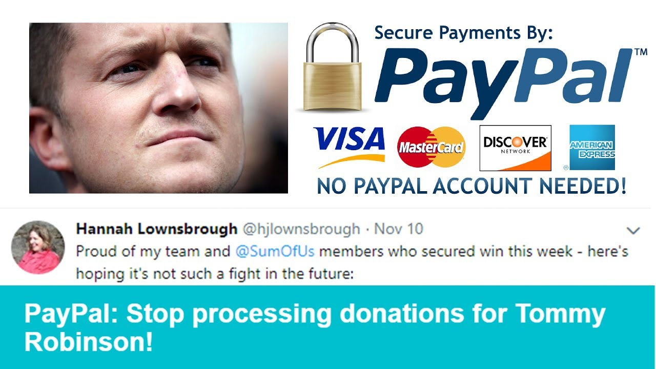 Download SUMOFUS AND PAYPAL SHUT DOWN TOMMY ROBINSON ACCOUNT