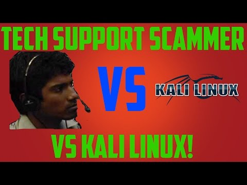 Tech Support Scammer vs Kali Linux