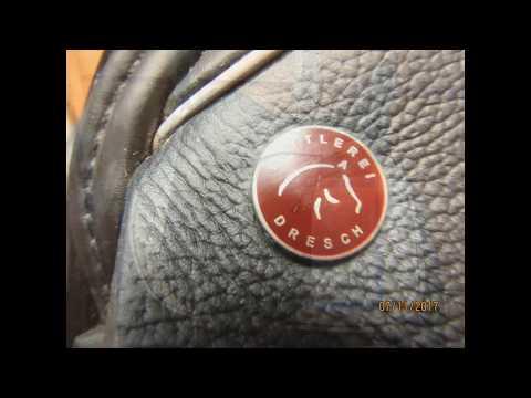 "Dresch Custom Monoflap Used Dressage Saddle 18"" MW 21669"