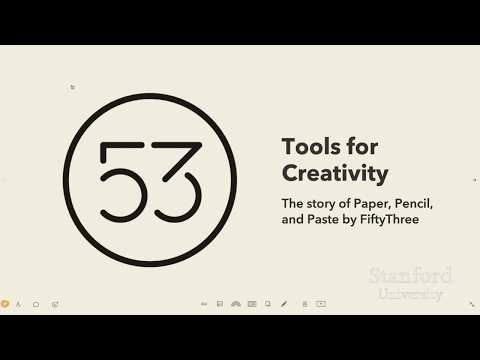 Stanford Seminar - Tools for Creativity: The Story of Paper, Pencil, and Paste