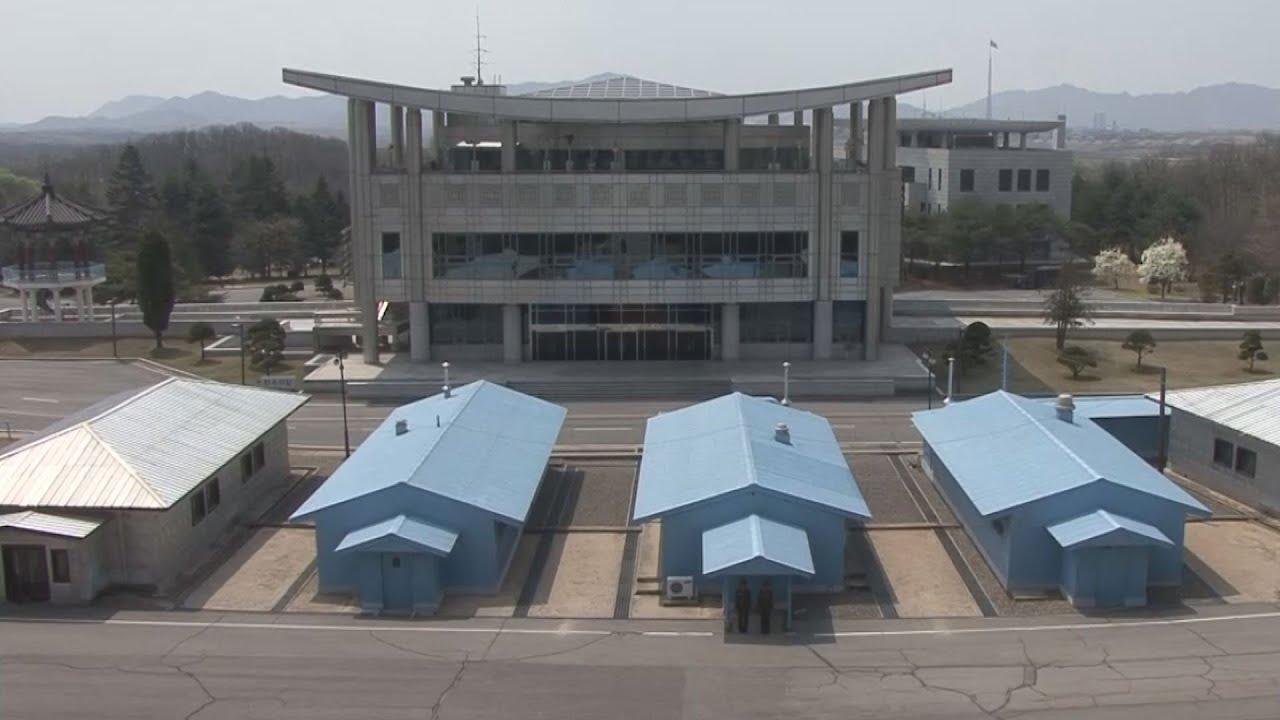 北朝鮮側から見た板門店 「建軍...