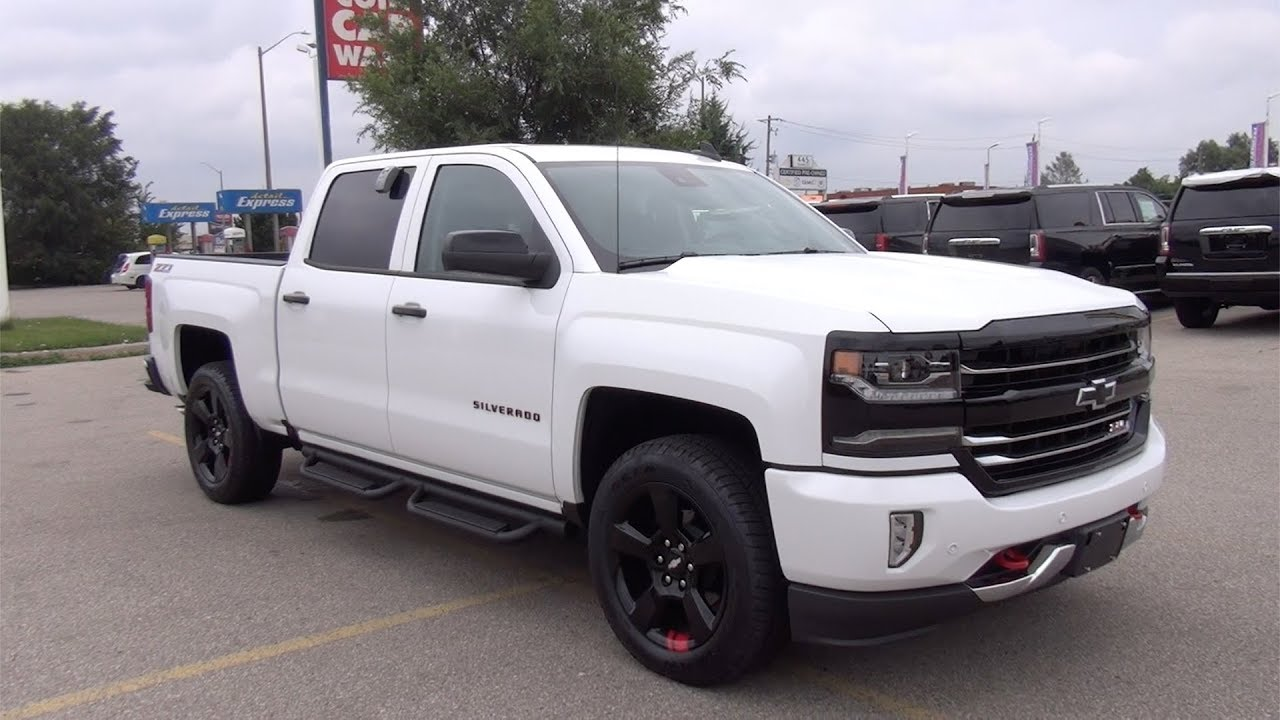 "2017 CHEVROLET SILVERADO 1500 CREW CAB SHORT BOX 4-WHEEL DRIVE LTZ ""REDLINE EDITION"" - YouTube"