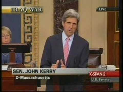 John Kerry Senate Speech