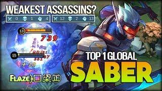 RIP SAVAGE!! The Weakest Assassin? Fʟѧzє﴿༻鿄㊣ Top 1 Global Saber - Mobile Legends