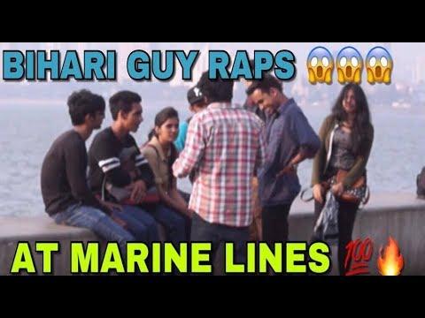 HOMELESS BIHARI GUY RAPS ON THE STREETS OF MUMBAI !!   Rap Prank   Pranks in India