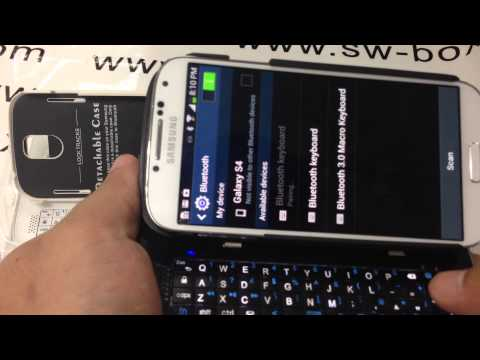 Wireless Sliding Bluetooth Keyboard Case For Samsung Galaxy S4