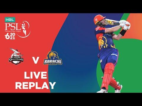 LIVE REPLAY – Lahore Qalandars vs Karachi Kings | Match 26 | HBL PSL 6