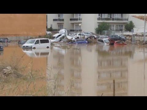 El este de Mallorca, arrasado por las lluvias torrenciales