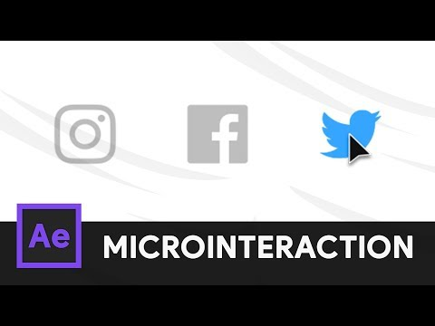 Social Media Icons Animation - After Effects Microinteraction 06 (Tutorial)