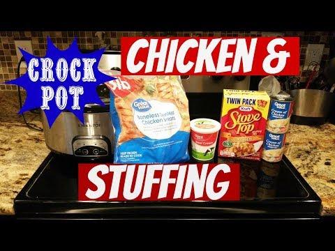 CROCK POT CHICKEN & STUFFING~FOODIE FRIDAYS!